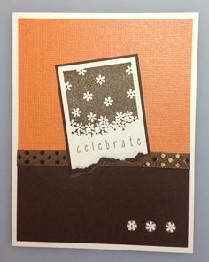 Birthday card. Stampin' Up Gently Falling stamp