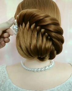 Bun Hairstyles For Long Hair, Braids For Long Hair, Braided Hairstyles, Braids For Girls, Hair Updo, Braided Updo, Summer Hairstyles, Front Hair Styles, Medium Hair Styles