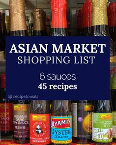 My Asian market shopping list (6 sauces, 45+ recipes!) | RecipeTin Eats Asian Store, Asian Grocery Store, Chinese Cooking Wine, Asian Cooking, Chinese Food, Chow Mein, Kimchi, Sauces, Asian Slaw