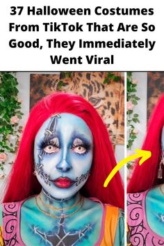 37 #Halloween Costumes From #TikTok That Are So Good, They #Immediately Went #Viral Halloween Face, Halloween Costumes, Halloween Makeup, Atla Tattoo, Decoration Design, Holiday Fashion, Amazing Bathrooms, House Colors, Projects To Try