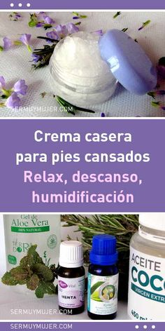 Crema casera para pies cansados. Relax, descanso, humidificación Relax, Vegetarian Lifestyle, Diy Beauty, Personal Care, Health, Ideas, Tired Feet, Homemade Scrub, Feet Care