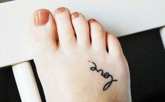 """""""Love"""" Word Foot Tattoo"""