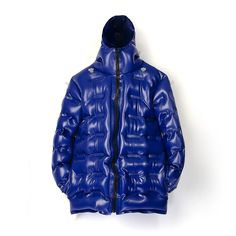 Christopher Raeburn Men's Inflatable Puffer Jacket - Blue Latex