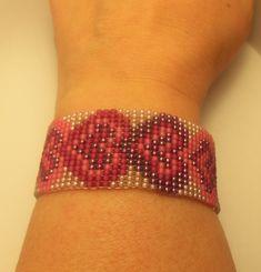 Beaded Bracelet by MiyukiObsession on Etsy Bead Loom Bracelets, Beaded Bracelet Patterns, Bead Loom Patterns, Unique Bracelets, Beading Patterns, Cuff Bracelets, Diy Jewelry, Jewelery, Unique Jewelry