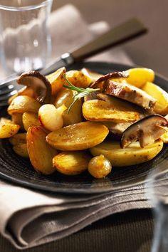 Salteado de patatas y setas al tomillo