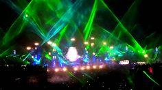 Skrillex laser show @ Tomorrowland 2012