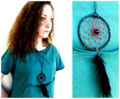 Dreamcatcher necklace - Handgjord dreamcathcer halsband ...