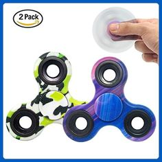 Fidget Spinner Rainbow Tri Hand spinner EDC ADHD Focus Toy Anxiety Stress Reducer For Kids Adults Alloy Speed 1-5 Min Spins (micai) - Fidget spinner (*Amazon Partner-Link)