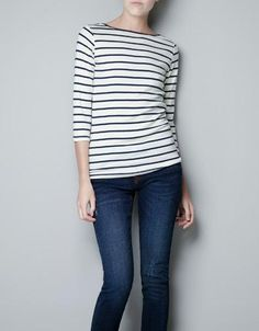 {organic cotton striped t-shirt} Zara - more colours available