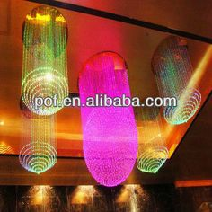 Customized acceptable One ball fiber optic sphere chandelier ...