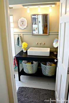 Colorful and Bright Bathroom Makeover