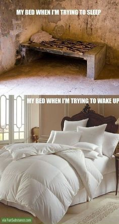 Bed comfort level - So Relateable