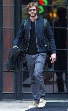 Liam Hemsworth Out In NYC