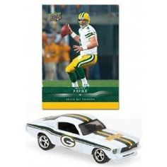 Green Bay Packers 2008 NFL Limited Edition Die-Cast 1:64 1967 Ford Mustang (White) with Brett Favre Card by Upper Deck  $19.39