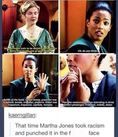 This is why I don't understand how people can hate Martha Jones.She's just so darn awesome! All Doctor Who, Doctor Who Funny, Doctor Who Quotes, Tenth Doctor, Martha Doctor Who, Doctor Who Humor, Doctor Who Blink, Doctor Who Tardis, Martha Jones