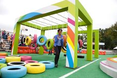First Lady Michelle Obama at Nickelodeon's Worldwide Day of Play