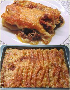 Cookbook Recipes, Cooking Recipes, Greek Recipes, Lasagna, Kai, Spaghetti, Pork, Food And Drink, Pasta