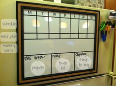 DIY Week Organizer (or The Project That Kept Me Up Till 2am)