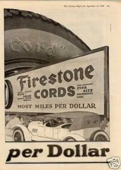 Firestone Tire Ad 2 Page Retro Advertising, Vintage Advertisements, Ads, Firestone Tires, Page 3, Vintage Signs, Motorcycles, Industrial, Personalized Items