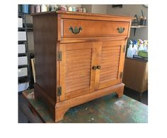 """Learn how to create this Fresco style finish with Wood Icing® products and how to create a beaded edge for plain cabinet doors.  This is the """"Before"""" cabinet. &…"""