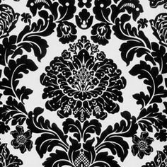For bench cushions. Michael Miller House Designer - Mod Basics - Delovely Damask in Ebony Curtain Patterns, Textile Patterns, Textiles, Demask Wallpaper, Damask Curtains, Baby Shower Purple, Purple Baby, Miller Homes, Red Ornaments