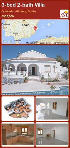 3-bed 2-bath Villa in Quesada, Alicante, Spain ►€352,800 #PropertyForSaleInSpain