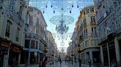 Navidad en la calle Larios de #Malaga #Andalucía Paisajes Increíbles @_Paisajes_