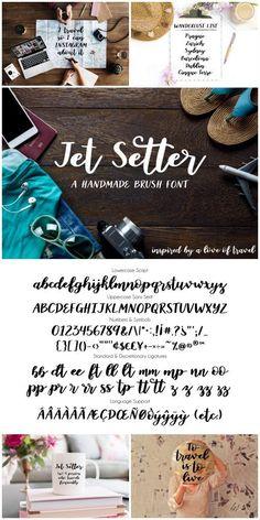 Jet Setter: A Playful Handmade Brush Font by Dawn Nicole Designs