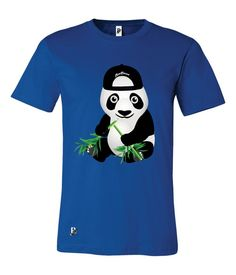 Cool Panda Short Sleeve Fashion T Shirts Graphic Tees