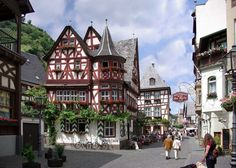 "Germany, Bacharach, Inn ""Altes Haus"" (Old House)"
