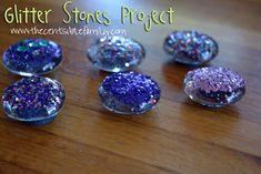 Glitter Stones {Frugal Crafts}