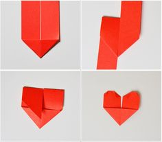How to fold heartshaped origami bookmark // A whole Lotte love