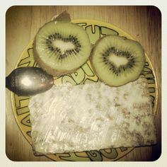 """""""My kiwi loves me.. vitamin c heart smile and all.."""""""