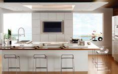 Comment aménager une petite cuisine gain de place avec un île de cuisine