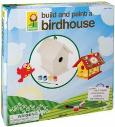 "Toysmith Build and Paint a Birdhouse #2957 by Toysmith. $10.74. 5.5"" X 7"" X 7"". Everything you need to make and decorate a birdhouse. Requires no hardware. Includes birdhouse, paint brush and 6 paints. Easy to build. From the Manufacturer                Everything you need to build and decorate your very own birdhouse. Be creative. Finished size is 5.5""X7""X7"".                                    Product Description                Easy to build Birdfeeder. Assembly that requires no..."