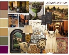 tuscan color palette | TRAD board is inspired by European influences like, Old World, Tuscan ...
