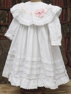 Antique French Original dress for large Jumeau bru Steiner Gaultier Eden Bebe or German doll about tall Peasant Dress Patterns, Frock Patterns, Doll Dress Patterns, Clothing Patterns, Little Girl Dresses, Flower Girl Dresses, Doll Fancy Dress, American Girl Clothes, Special Dresses