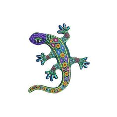 NOVICA Handcrafted Ceramic Lizard Wall Art from Mexico ($73) ❤ liked on Polyvore featuring home, home decor, wall art, purple, wall decor, handmade home decor, novica, handcrafted home decor, mexican wall art and mexican ceramic wall art