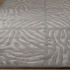 Candice Olson Luxury Zebra Carved Rug: 3 Colors