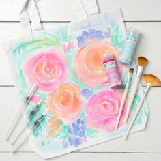 """Join us on Wednesday, April at PM EDT for our next We will be using the Soft Gel Watercolor paint to create the """"Floral Notes"""" painting. Click the link in our bio to RSVP and get the suppy list! Get your favorite wine to make the evening complete! All You Need Is, Party Giveaways, Fabric Storage Baskets, Toddler Art Projects, Martha Stewart Crafts, Paint And Sip, Sewing Blogs, Mothers Day Crafts, Cool Diy Projects"""