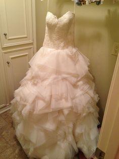 Lazaro Ivory Organza Ball Gown