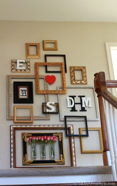 Empty Picture Frames DIY Ideas For Repurposing Picture Frames. Donu0027t Love  The Colors, But I Do Love The Idea! | DIY Artwork For The Home | Pinterest  | Empty ...