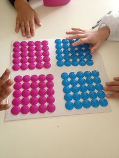 Quadrato del 100 con tappetino per acquaio. Dov' è il 79? Ice Cube Trays, Ice Tray, Maths, Geo