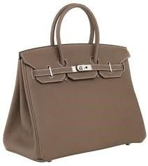 $1250 HERMES Handbag BIRKIN 35CM ETOUPE TOGO LEATHER PHW Circa 2011 Mint Like New at Max Pawn of Las Vegas www.bagpawn.com 702-253-7296