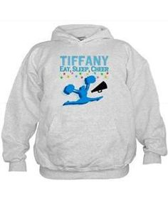 PERSONALIZED CHEER Hoodie Give the holiday gift every Cheerleader will treasure with our personalized Cheerleading Tees and Gifts.   http://www.cafepress.com/sportsstar/10189555  #Cheerleading #Cheerleader #Cheerleadergift #Lovecheerleading #PersonalizedCheerleader
