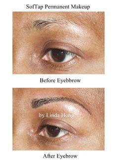 SofTap hand method permanent makeup eyebrows by Linda Hong