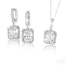 Matching Silver Earrings and Pendant By NWJ Gold Jewelry, Fine Jewelry, Dog Tags, Dog Tag Necklace, Silver Earrings, Jewels, Diamond, Pendant, Bracelets