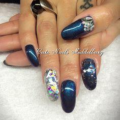 Dark blue & foil