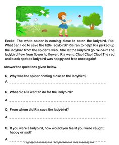 Download and print Turtle Diary's Fill in the Blanks from Comprehension Ria and Ladybird worksheet. Our large collection of ela worksheets are a great study tool for all ages.