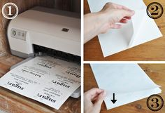 How to print dishwasher safe decals on your inkjet printer! Includes free canister label template! Great idea!